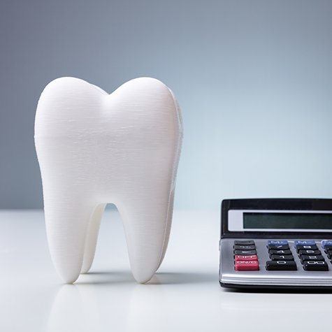 Model tooth and calculator